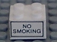 Part No: 3003pb019  Name: Brick 2 x 2 with 'NO SMOKING' Pattern on Both Sides (Stickers) - Set 6375-2