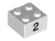 Part No: 3003pb036  Name: Brick 2 x 2 with Black  '2' Pattern