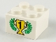 Part No: 3003px2  Name: Brick 2 x 2 with Gold 1st Place Cup and Laurels Pattern