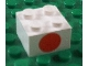 Part No: 3003px6  Name: Brick 2 x 2 with Dot Red on One Side Pattern