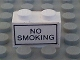 Part No: 3004pb061  Name: Brick 1 x 2 with 'NO SMOKING' Pattern on Both Sides (Stickers) - Set 6375-2