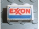Part No: 3004pb071  Name: Brick 1 x 2 with Exxon Logo Pattern on Both Sides (Stickers) - Set 6375-2