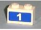 Part No: 3004pb078  Name: Brick 1 x 2 with White '1' on Blue Background Pattern (Sticker) - Set 7641
