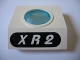 Part No: 30080c01pb03  Name: Panel 4 x 3 x 3 with Porthole (Divers) with White 'XR2' in Black Oval Pattern (Sticker) - Set 1782