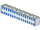 Part No: 3008p21  Name: Brick 1 x 8 with Ferry Squares Light Blue 32 in 2 Lines Pattern