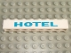 Part No: 3008pb009  Name: Brick 1 x 8 with Blue 'HOTEL' Pattern