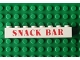 Part No: 3008pb013  Name: Brick 1 x 8 with Red 'SNACK BAR' Pattern