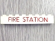 Part No: 3008pb025  Name: Brick 1 x 8 with Red 'FIRE STATION' Thin Pattern