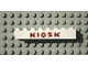Part No: 3008pb057  Name: Brick 1 x 8 with Red 'KIOSK' Sans-Serif Thick Pattern