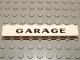 Part No: 3008pb064  Name: Brick 1 x 8 with Black 'GARAGE' Sans-Serif Thick Pattern, Elaborate 'G'