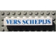 Part No: 3008pb088  Name: Brick 1 x 8 with Blue 'VERS SCHEPIJS' Text Pattern (Sticker) - Set 1592 (Dutch Version)