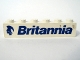Part No: 3009pb053L  Name: Brick 1 x 6 with Blue 'Britannia' Text and Logo Left Pattern (Sticker) - Set 1599