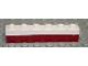 Part No: 3009pb103  Name: Brick 1 x 6 with Dark Red Bottom Stripe Pattern - Set 611-2