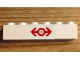 Part No: 3009pb218  Name: Brick 1 x 6 with Train Logo Red Pattern (Sticker) - Set 4563