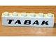 Part No: 3009px30  Name: Brick 1 x 6 with Black 'TABAK' Sans-Serif Bold Pattern