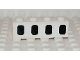 Part No: 3010pb050  Name: Brick 1 x 4 with 4 Black Airplane Windows Pattern (Sticker) - Set 2532