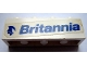 Part No: 3010pb055L  Name: Brick 1 x 4 with Blue 'Britannia' Text and Logo Left Pattern (Sticker) - Set 1599