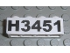 Part No: 3010pb092  Name: Brick 1 x 4 with Black 'H3451' Pattern (Sticker) - Set 3451