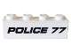 Part No: 3010pb277  Name: Brick 1 x 4 with Black 'POLICE 77' Pattern (Sticker) - Set 76059