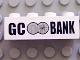 Part No: 3010pb285  Name: Brick 1 x 4 with Black 'GC BANK' Logo on White Background Pattern (Sticker) - Set 7781