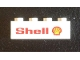 Part No: 3010pb287L  Name: Brick 1 x 4 with 'Shell' Text and Logo Pattern Model Left Side (Sticker) - Set 7735
