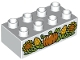 Part No: 3011pb044  Name: Duplo, Brick 2 x 4 with Pumpkin, Corn and Sunflowers Pattern