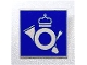 Part No: 30258pb006  Name: Road Sign 2 x 2 Square with Clip with Royal Mail Pattern
