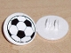 Part No: 30261pb007  Name: Road Sign 2 x 2 Round with Clip with Soccer Ball Pattern (Sticker) - Sets 3414 / 3419