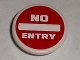Part No: 30261pb015  Name: Road Sign 2 x 2 Round with Clip with 'NO ENTRY' Thick Pattern (Sticker) - Tiny Turbos