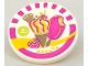 Part No: 30261pb023  Name: Road Sign 2 x 2 Round with Clip with Ice Cream Pattern