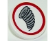 Part No: 30261pb036  Name: Road Sign 2 x 2 Round with Clip with Tornado Pattern (Sticker) - Set 10261