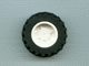 Part No: 30285c01  Name: Wheel & Tire Assembly 18mm D. x 14mm with Black Tire 30.4 x 14 (30285 / 30391)