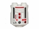 Part No: 30361pb024  Name: Brick, Round 2 x 2 x 2 Robot Body with Red and Silver Pattern (R4-G0)