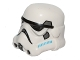 Part No: 30408pb09  Name: Minifigure, Headgear Helmet SW Stormtrooper, 2 Chin Holes, Dark Azure and Dark Bluish Gray Pattern (Rebels Cartoon Style)