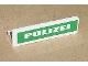 Part No: 30413pb006  Name: Panel 1 x 4 x 1 with White 'POLIZEI' on Green Background Pattern (Sticker) - Set 7236-1