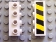 Part No: 30414pb01  Name: Brick, Modified 1 x 4 with 4 Studs on One Side with Black and Yellow Danger Stripes Pattern (Sticker) - Set 7781