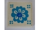 Part No: 3068apb11  Name: Tile 2 x 2 without Groove with Blue Flower Pattern (Sticker) - Set 292