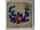 Part No: 3068apb13  Name: Tile 2 x 2 without Groove with Flower and Blue Leaves Pattern (Sticker) - Set 270-2