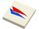 Part No: 3068bpb0015  Name: Tile 2 x 2 with Groove with Red and Blue Windsurfer Triangles Pattern