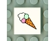 Part No: 3068bpb0016  Name: Tile 2 x 2 with Groove with Ice Cream Cone Pattern
