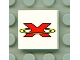 Part No: 3068bpb0035  Name: Tile 2 x 2 with Groove with Red Extreme Team Logo Pattern