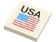 Part No: 3068bpb0064  Name: Tile 2 x 2 with Groove with 'USA' and US Flag Pattern (Sticker) - Set 1682