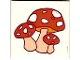 Part No: 3068bpb0078  Name: Tile 2 x 2 with Groove with Toadstool (Mushroom) Cluster Pattern