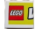 Part No: 3068bpb0178  Name: Tile 2 x 2 with Groove with LEGO World Pattern Large Left