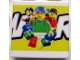 Part No: 3068bpb0179  Name: Tile 2 x 2 with Groove with LEGO World Pattern Large Middle