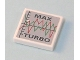 Part No: 3068bpb0190  Name: Tile 2 x 2 with Groove with Graph and 'MAX TURBO' Pattern (Sticker) - Set 7642