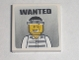 Part No: 3068bpb0213  Name: Tile 2 x 2 with Groove with 'WANTED' Prisoner 50380 Poster Pattern (Sticker) - Set 7744