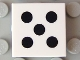 Part No: 3068bpb0292  Name: Tile 2 x 2 with Groove with 5 Black Dots Pattern