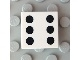 Part No: 3068bpb0293  Name: Tile 2 x 2 with Groove with 6 Black Dots Pattern
