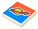 Part No: 3068bpb0353  Name: Tile 2 x 2 with Groove with Classic Space Logo on Red and Blue Background Pattern